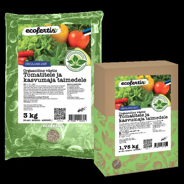 Органическое удобрение для томатов / для теплицы / 3 кг