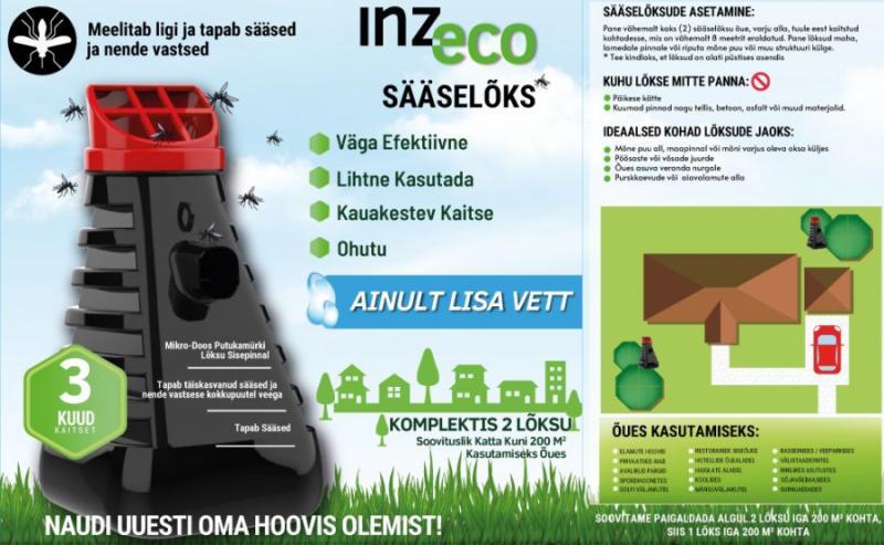 Ловушка от комаров INZ-ECO Mosquito Trap 2шт.